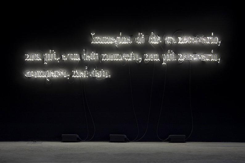 Joseph Kosuth, Lia Rumma, 2014.