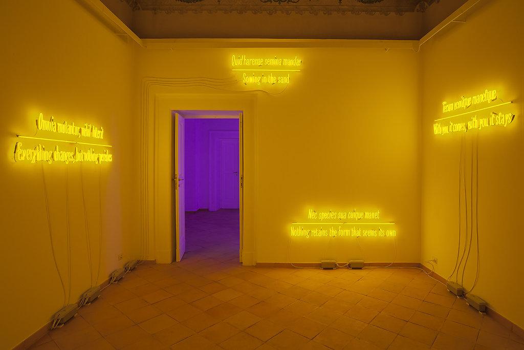 Joseph Kosuth, Galleria Vistamare, 2017