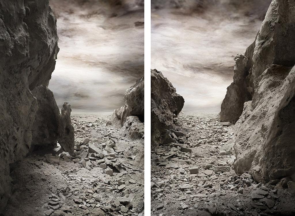 La Crisi dei Simboli (dittico) 2019, 80x120 cm